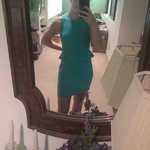 Loft greenish blue dress